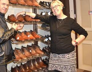 Berit hos Ohlssons skor valde ut skor till Molle.
