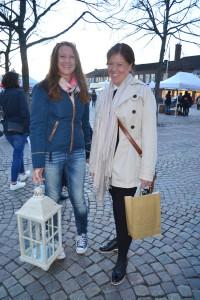 Kalmartjejerna Helen Thörnqvist och Camilla Skymbäck åker gärna till Nybro när det är tjejkväll.