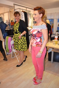 Vedrana Pasic och Maria Hermansson visar vårmodet från Magazine Lou.