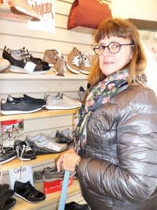 Eva Hagelin provade skor hos ManWo shoes.