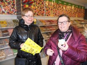 Mari Andersen och Monica Persson besökte bland annat My Way under tjejkvällen.