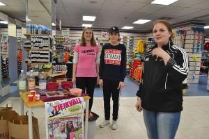 Vilma, Albin och Jessica på Sportringen bjöd på massa gott!