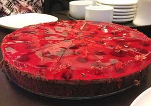 Läckert god tårta fick gästerna smaka på hos Pizzeria Emiro.