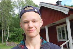 Elias Nilsson-Sjögren fick träffa många nya kompisar.