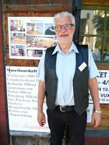 Kenneth Petersson berättar att kvällen med Levande Museum var mycket lyckad.