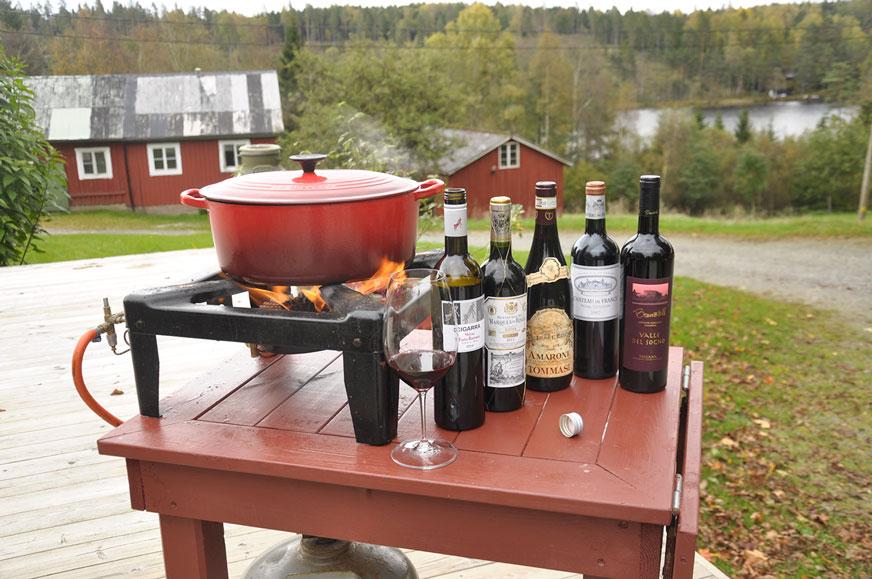Passande viner till älgchilin presenteras av krönikör Thomas Grehn.