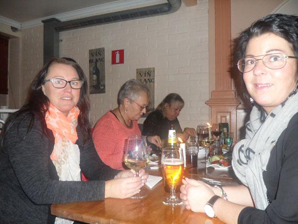 Anita Rosén och Therese Juhlin åt gott hos Dolce Vita.