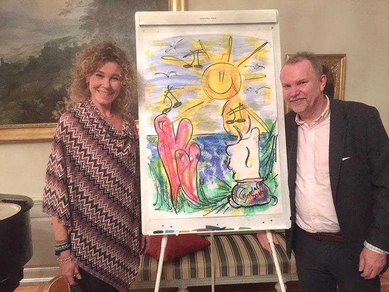 Ingela Carlson och Loa vinnare av den fina tavlan signerad Loa.