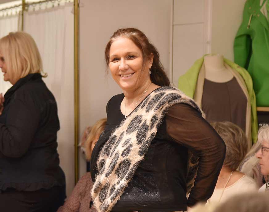 Livscoachen Maria Kehagia var inbjuden. Hon pratade om positivt tänkande.