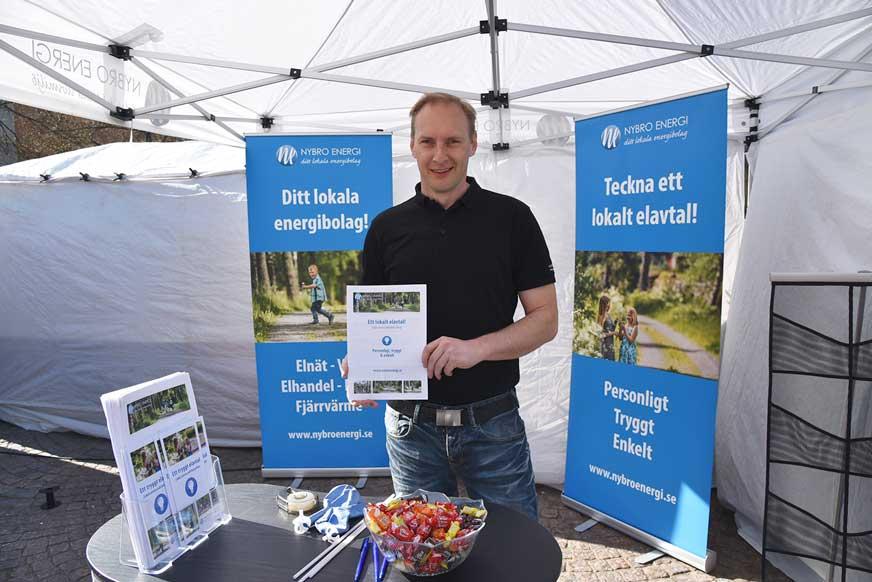 Kristoffer Blomberg från Nybro Energi informerade om elavtal.
