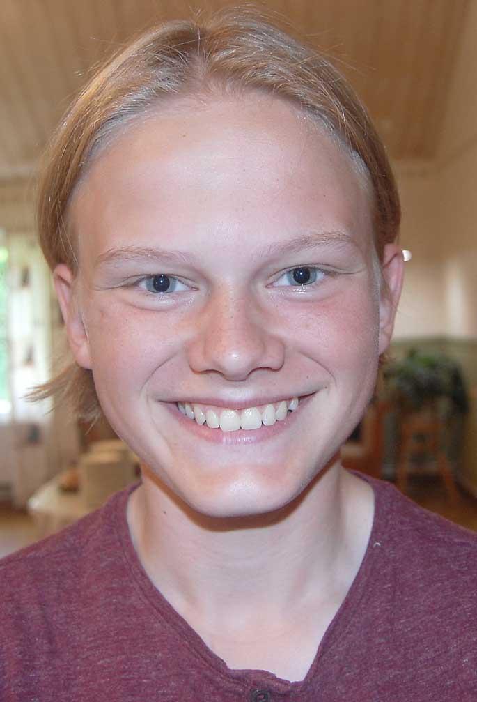 Ludvig Olsson tycker att att gemenskapen betyder mycket vid konfirmationslägret.